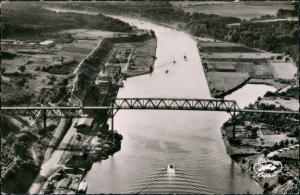 Ansichtskarte Holtenau-Kiel Holtenå Luftbild Prinz Heinrich Brücke 1963