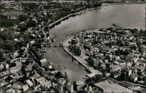 Ansichtskarte Eckernförde Luftbild - Stadt 1956