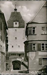 Ansichtskarte Isny Frau Straße Espantor - VW Käfer 1963