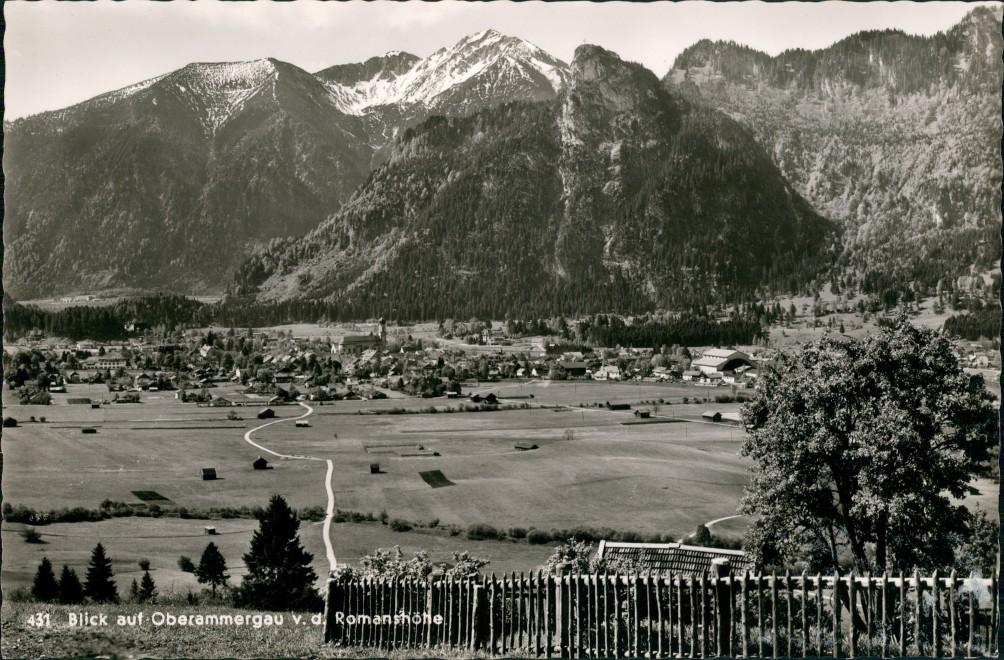 Ansichtskarte Oberammergau Stadtblick 1959 0