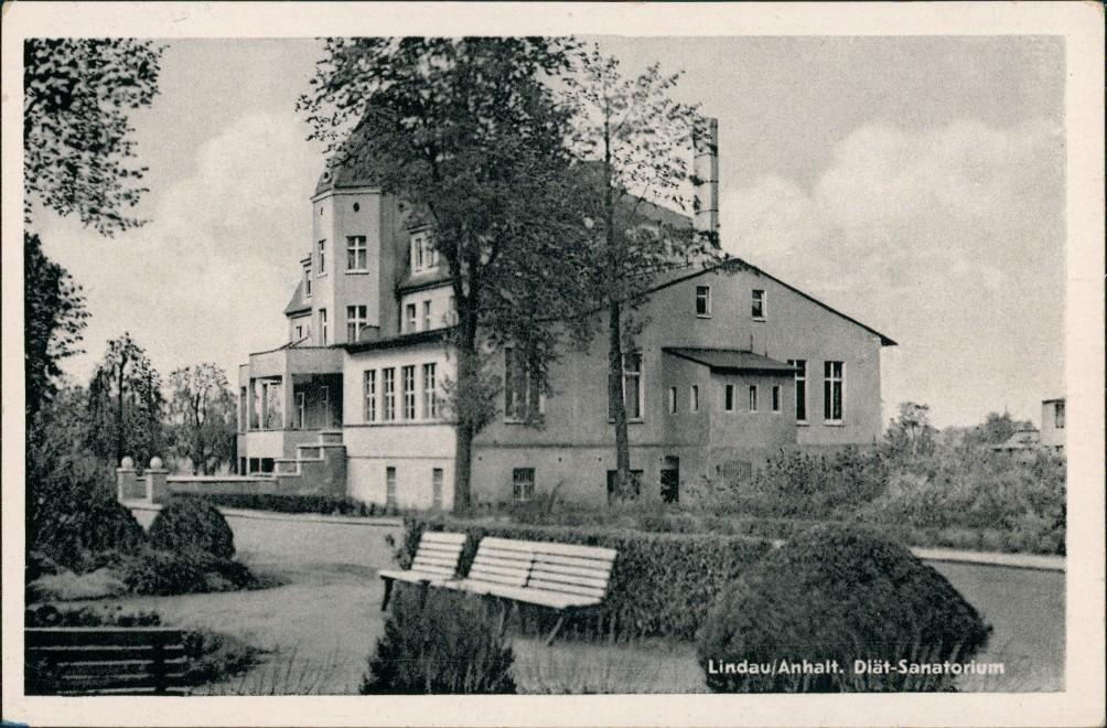 Ansichtskarte Lindau (Anhalt)-Zerbst Diät-Sanatorium 1958 0