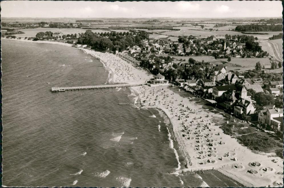 Niendorf-Timmendorfer Strand Luftbild Strand Seebrücke Stadt 1964 0