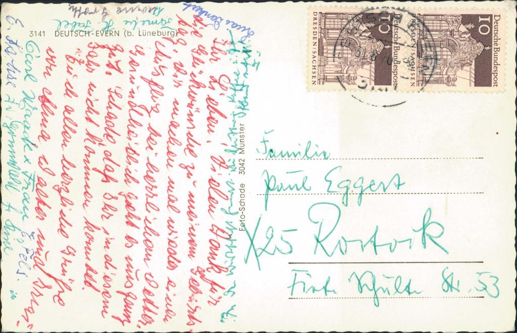 Ansichtskarte Deutsch Evern Schule, Geschäft, Ilmenau 1969 1