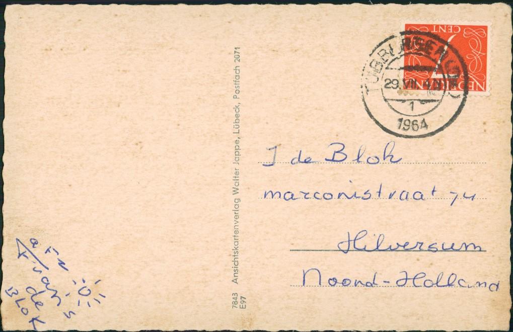Ansichtskarte Uelsen 4 Bild: Straße, Kirche, Waldbad, Markt 1964 1