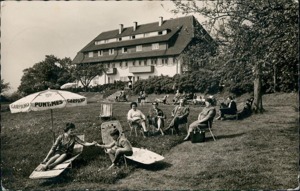 Ansichtskarte Freiburg im Breisgau Horben-Langackern Gasthof zum Engel 1963 0