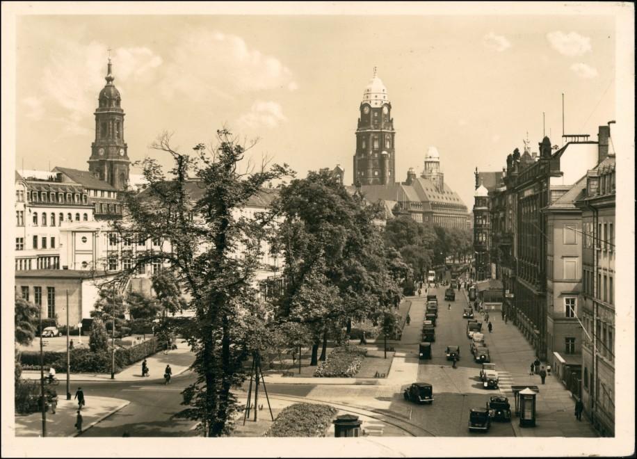 Ansichtskarte Innere Altstadt-Dresden Ringstraße 1932 0