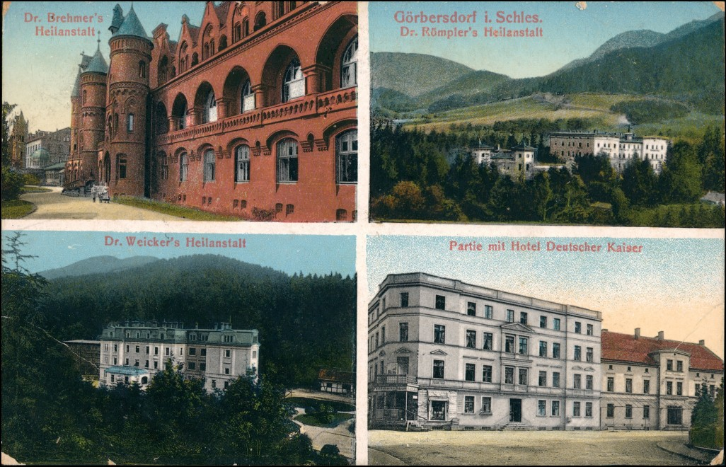 Görbersdorf in Schlesien Sokołowsko Hotel, Heilanstalten - 4 Bild 1912 0