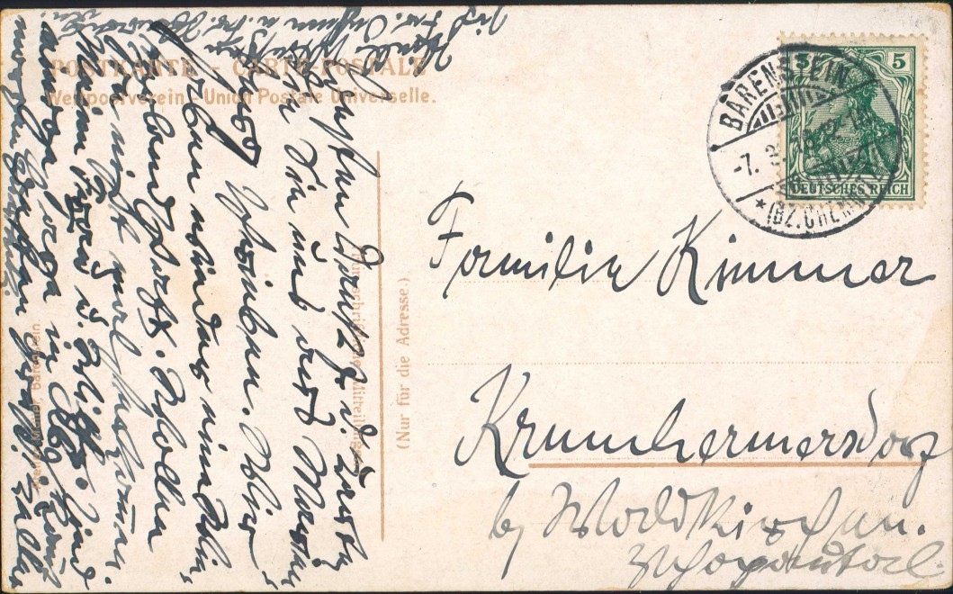 Postcard Weipert Vejprty Eisenbahnbrücke Bärenstein 1913 1