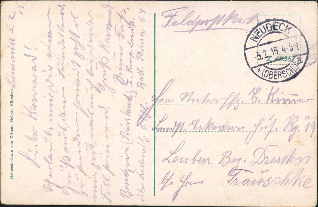 Beuthen O.S. Bytom   Beuthn Promenade mit Hügel Gel. Neudeck Oberschlesien 1915 1