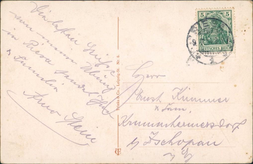 Ansichtskarte Riesa Schlepper - Elbpartie 1914 1