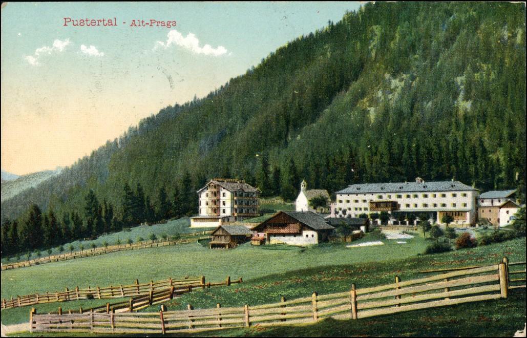Cartoline Prags Braies Stadt Hotel Pustertal Südtirol 1909 0