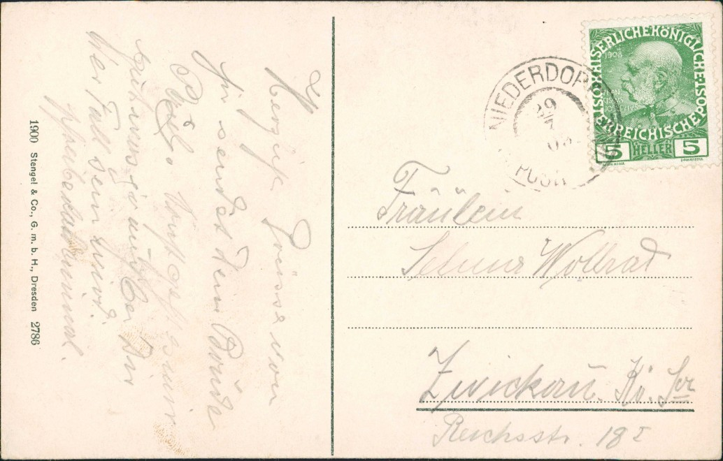 Cartoline Prags Braies Stadt Hotel Pustertal Südtirol 1909 1