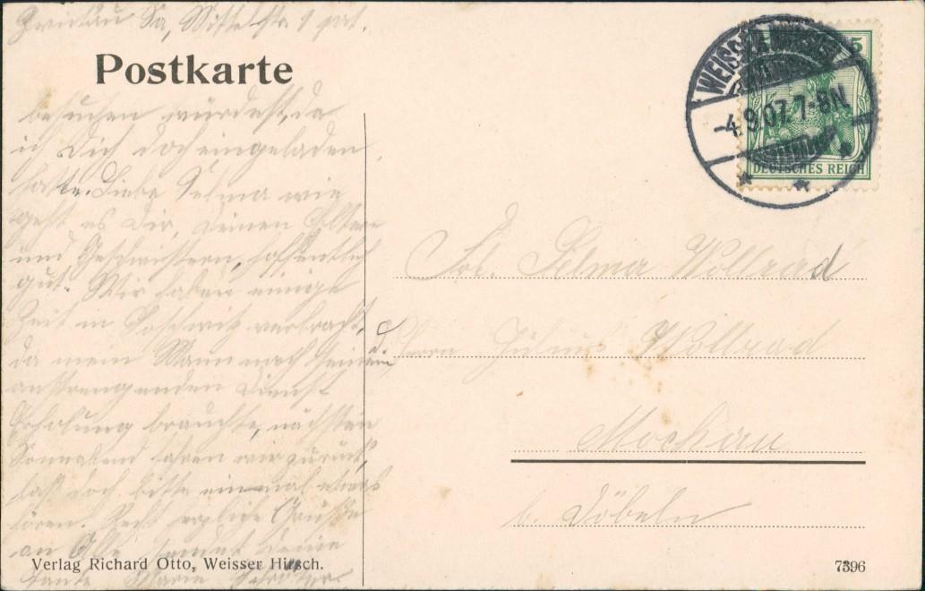 Ansichtskarte Langebrück-Dresden Gasthaus Haidemühle coloriert 1907 1