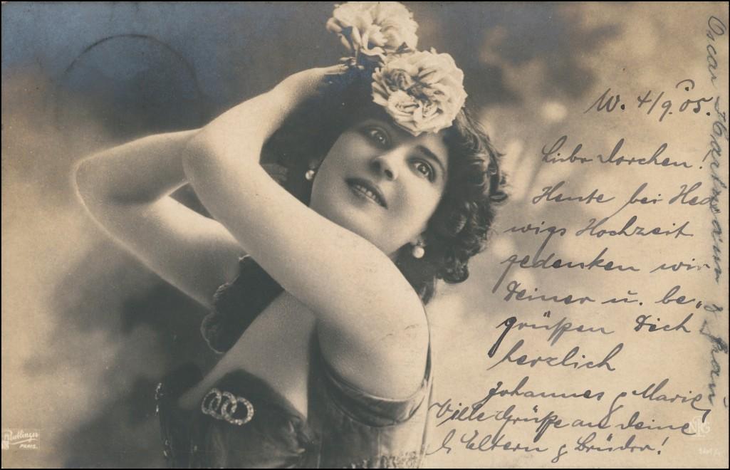 Ansichtskarte  Erotik (Nackt - Nude) Junge Frau lassiv Fotokunst 1905 0