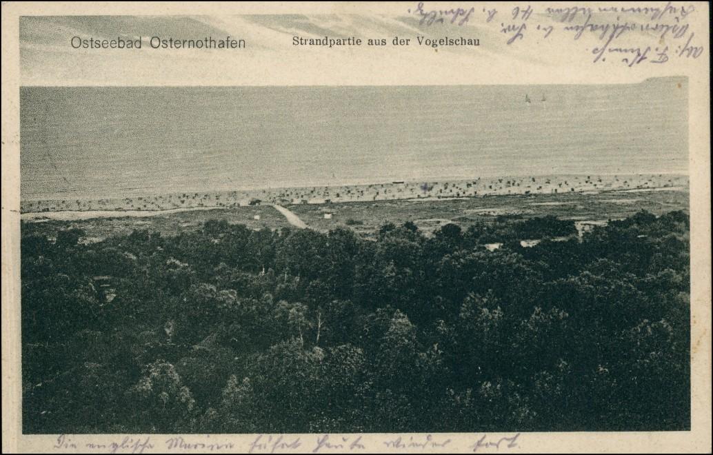 Osternothafen (Ostswine)-Swinemünde Warszów Świnoujście aus der Vogelschau 1927 0