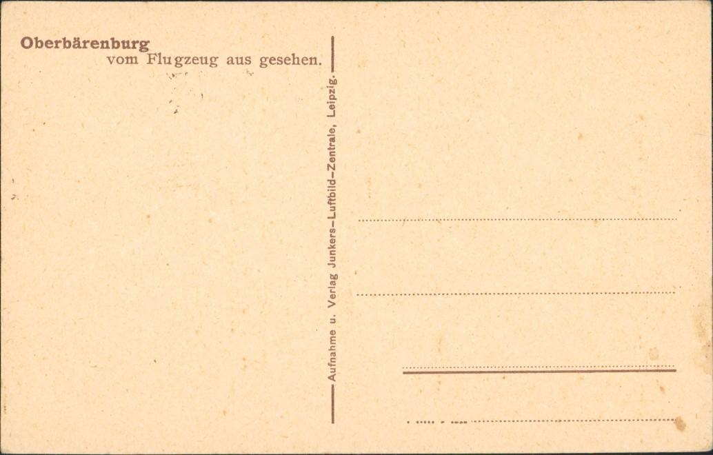 Oberbärenburg-Altenberg (Erzgebirge) Luftbild aus Großer Höhe 1926 1
