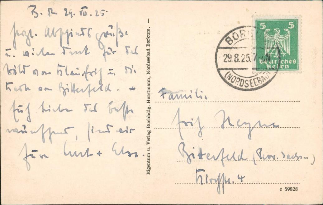 Ansichtskarte Borkum Promenade bei Sturmflut 1925 1