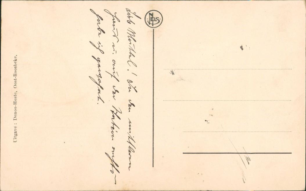 Postkaart Oostrozebeke Oostroosbeke Statiehoek Bahnhof Straße 1912 1