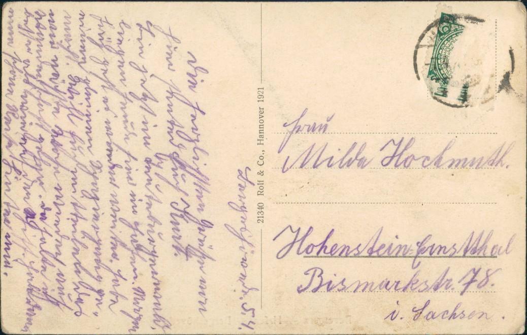 Ansichtskarte Bevergern-Hörstel Hafen - Häuser Bergeshövede 1921 1