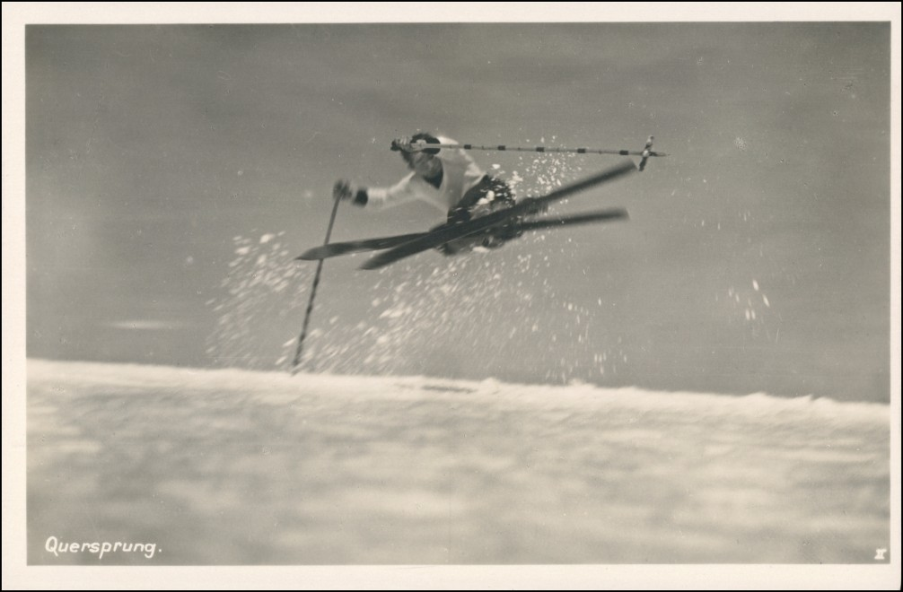 Schreiberhau Szklarska Poręba Skifahrer Quersprung Riesengebirge 1930 0