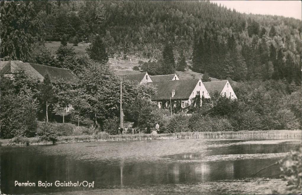 Ansichtskarte Bad Herrenalb Pension Bajor Gaistal 1959 0