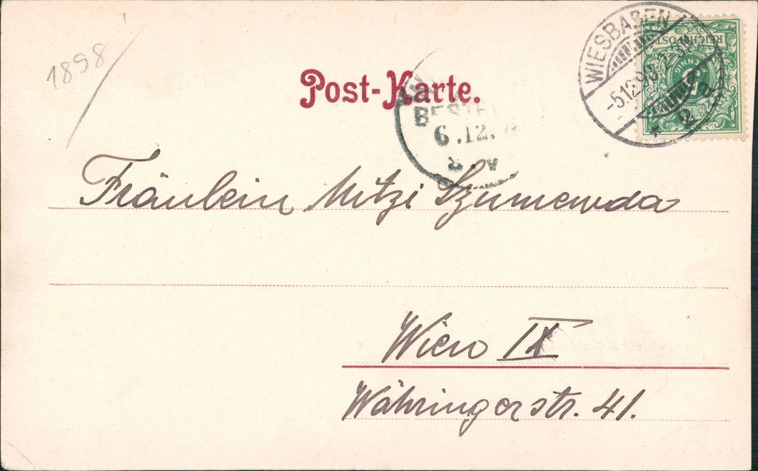 Ansichtskarte Wiesbaden Kursaal mit Restauration 1899 1