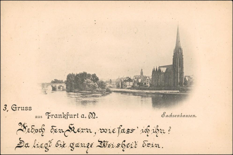 Ansichtskarte Sachsenhausen-Frankfurt am Main Stadtpartie 1899 0
