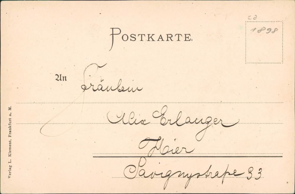 Ansichtskarte Sachsenhausen-Frankfurt am Main Stadtpartie 1899 1