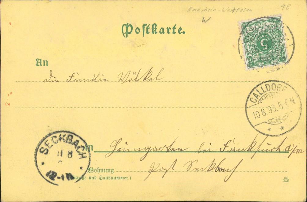 Heraldik Präge Ak aus dem Land der Lippischen Rose 1898 Goldrand 1