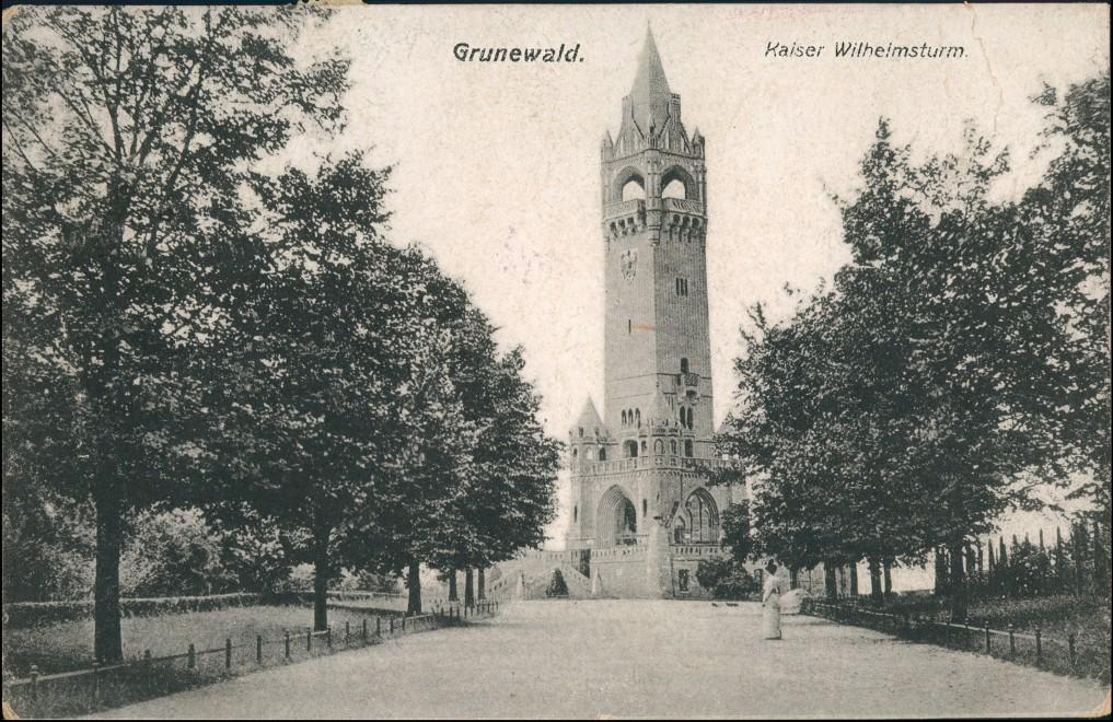 Ansichtskarte Grunewald-Berlin Grunewaldturm (Kaiser-Wilhelm-Turm) 1920 0