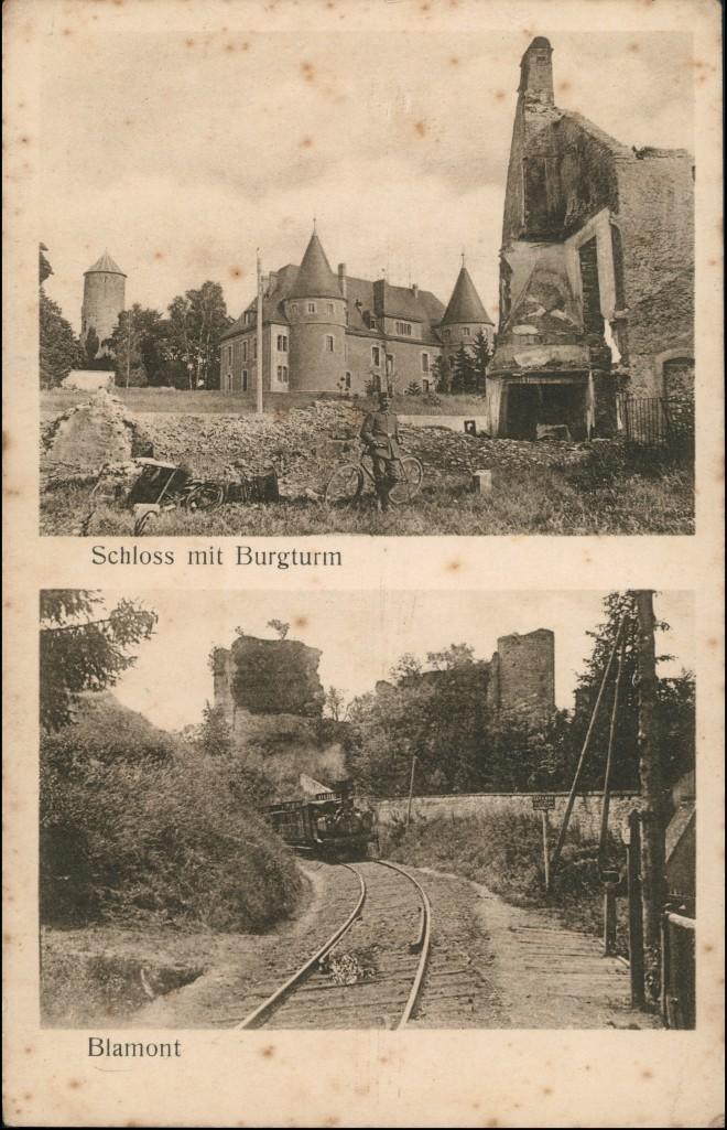 CPA Blâmont (Blankenberg) 2 Bild Schloss, Eisenbahn 1913 0