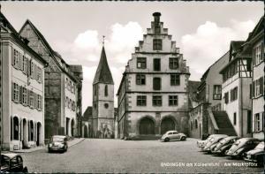 Endingen am Kaiserstuhl Markplatz Autos ua. Auto VW Volkswagen Käfer Beetle 1955