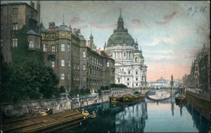 Ansichtskarte Mitte-Berlin Berliner Stadtschloss, Kanal - Schlepper 1906