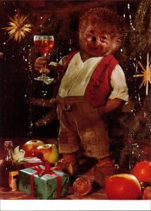 Ansichtskarte  Mecki (Diehl-Film): Weihnachten Punsch und Geschänke 1975