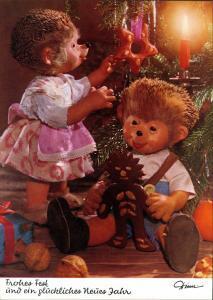 Ansichtskarte  Mecki Diehl-Film: Weihnachten Baumschmuck und Lebkuchen 1975