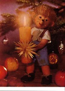 Ansichtskarte  Mecki (Diehl-Film): Frohe Festtage Neujahr Kerze 1970