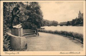 Königsberg (Ostpreußen) Калининград Schloßteich - Statue 1930