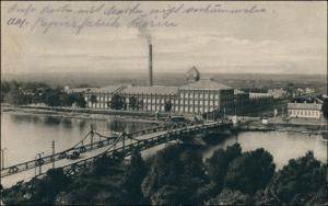 Postcard Pori Björneborg Porin Silta - Fabrikanlage 1916