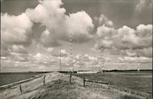 Ansichtskarte Norddeich-Norden Seedeich mit Funkstation 1964