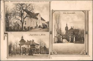 Ansichtskarte Zeititz-Bennewitz 3 Bild Villa, Jagdhaus 1912
