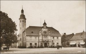 Postcard Neudamm (Neumark) Dębno Rathaus LK Königsberg Neumark 1928
