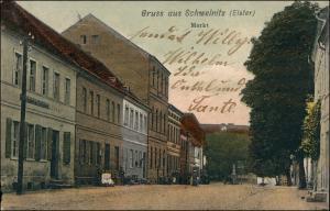 Ansichtskarte Schweinitz (Elster)-Jessen Markt 1906