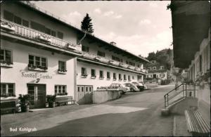 Bad Kohlgrub Partie am Kurbad-Sanitas, Autos ua. VW Käfer Beetle 1960