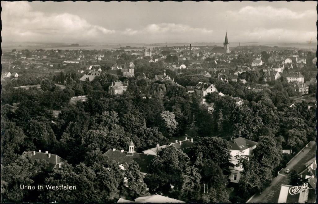 Ansichtskarte Unna Luftbild Panorama Gesamtansicht 1962 0