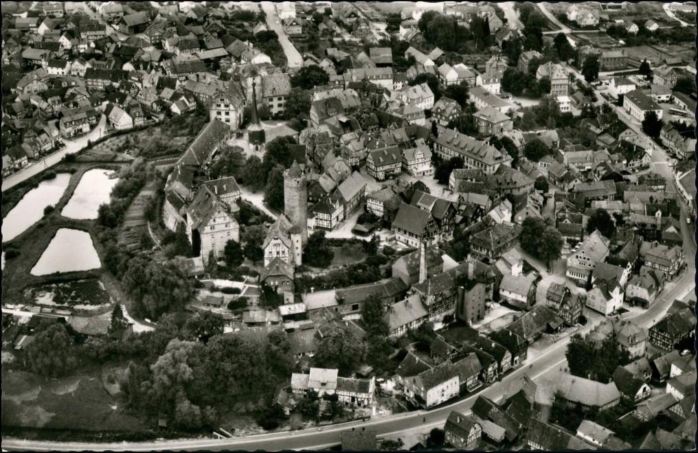 Ansichtskarte Schlitz Luftbild Überflug Zentrum Fliegeraufnahme 1960 0