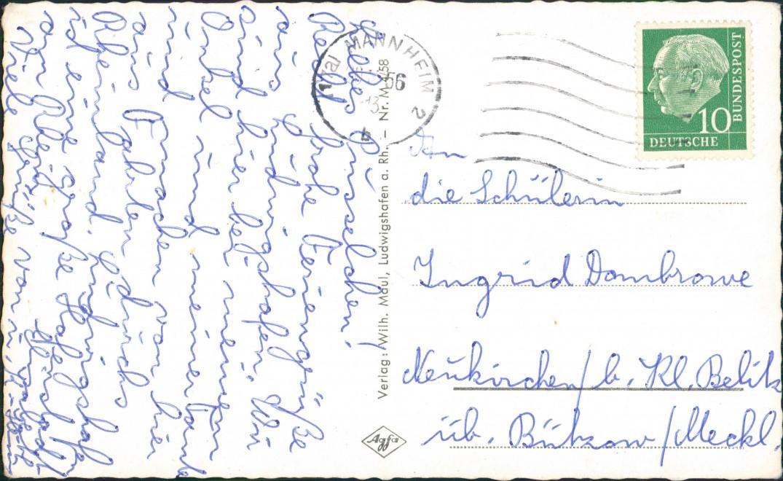 Ludwigshafen MB-AK Pfalzbau, Südwest-Stadion Luftaufnahme, Ankerhof uvm. 1966 1