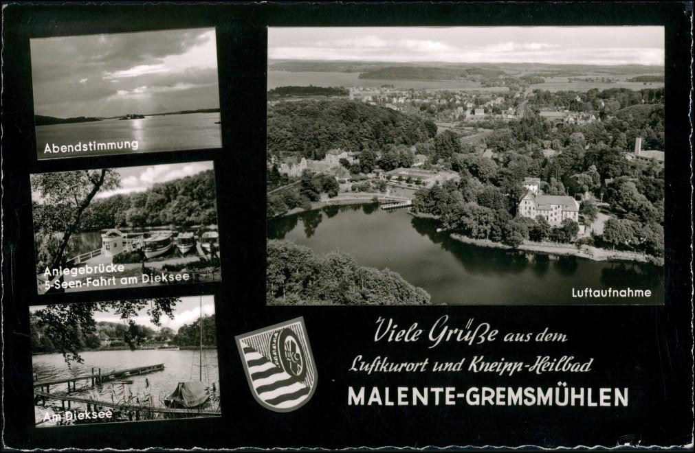 Bad Malente-Gremsmühlen-Malente Mehrbild-AK ua. Luftaufnahme  Dieksee 1963 0
