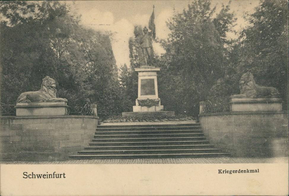 Ansichtskarte Schweinfurt Kriegerdenkmal 1912 0