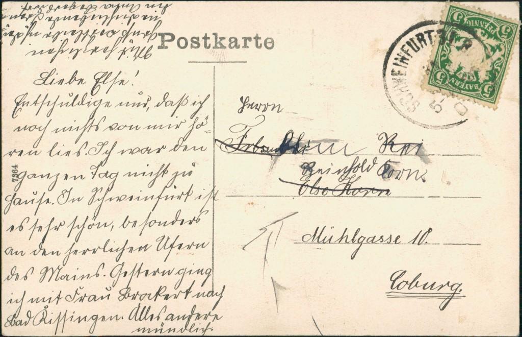 Ansichtskarte Schweinfurt Straßenpartie Justizgebäude 1907 1