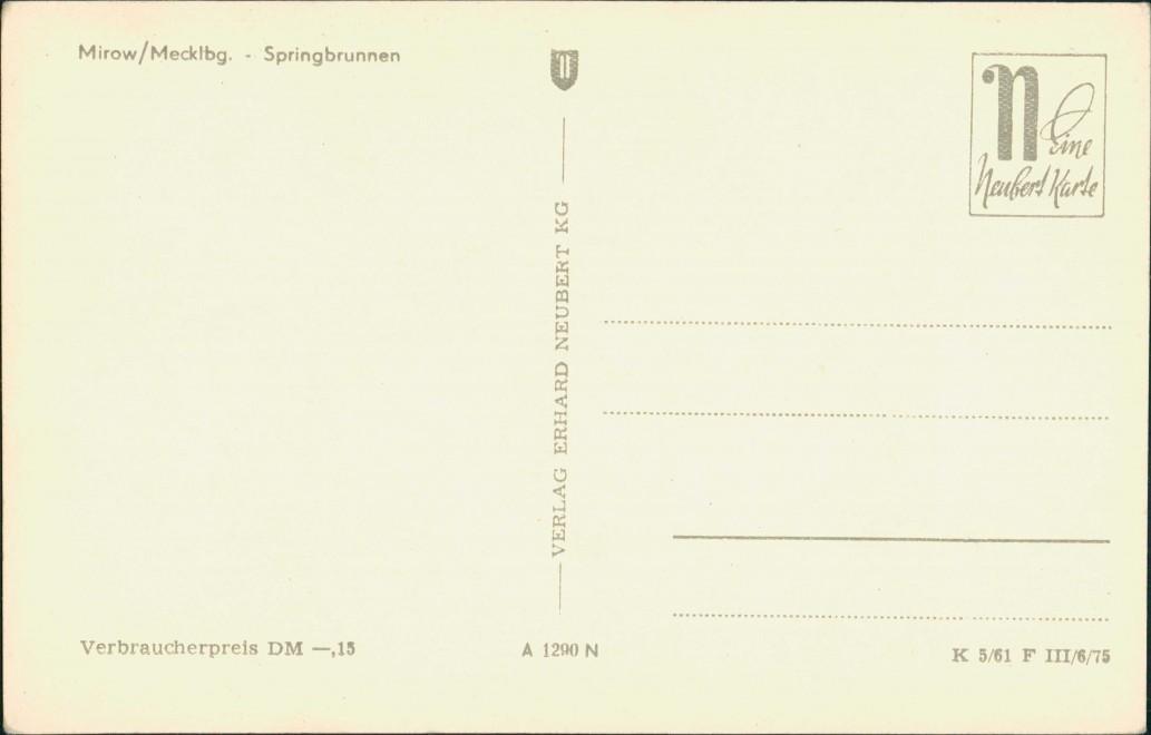 Ansichtskarte Mirow Straßenpartie 1961 1